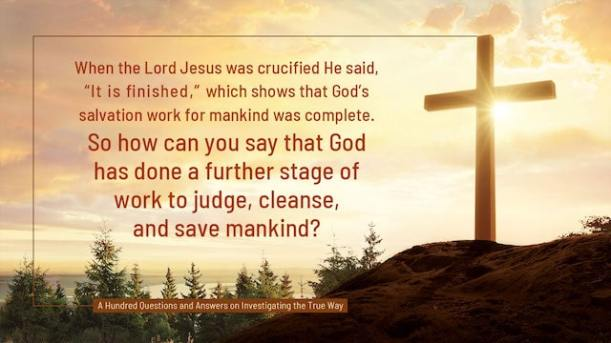 God's Word, Lord Jesus, God's salvation, It Is Finished, God's work